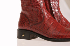 Vittoria Red Alligator Riding Boots