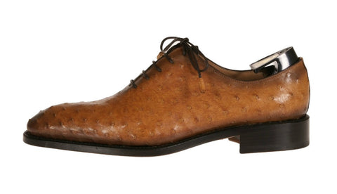 Brera Ostrich Leather Oxford Shoes