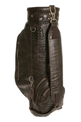 Golf Bag Brown Printed Alligator