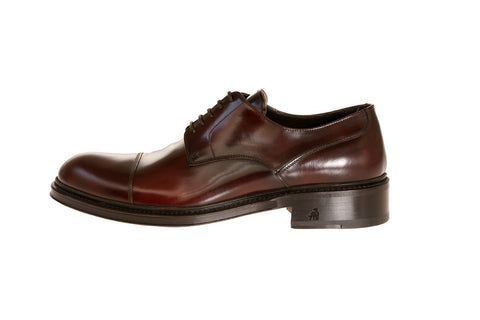 Alfonso Burgundy Calfskin Derby Shoes