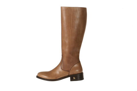 Vittoria Caramel Calfskin Riding Boot