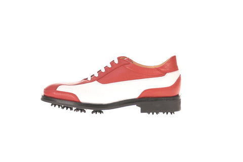 Parma Red White Golf Shoes