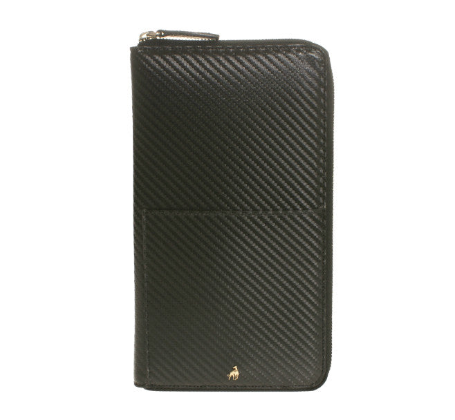 Document Holder Black Calfskin Hitech