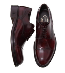 Dress Men's Italian Burnished Burgundy Shoes For Men