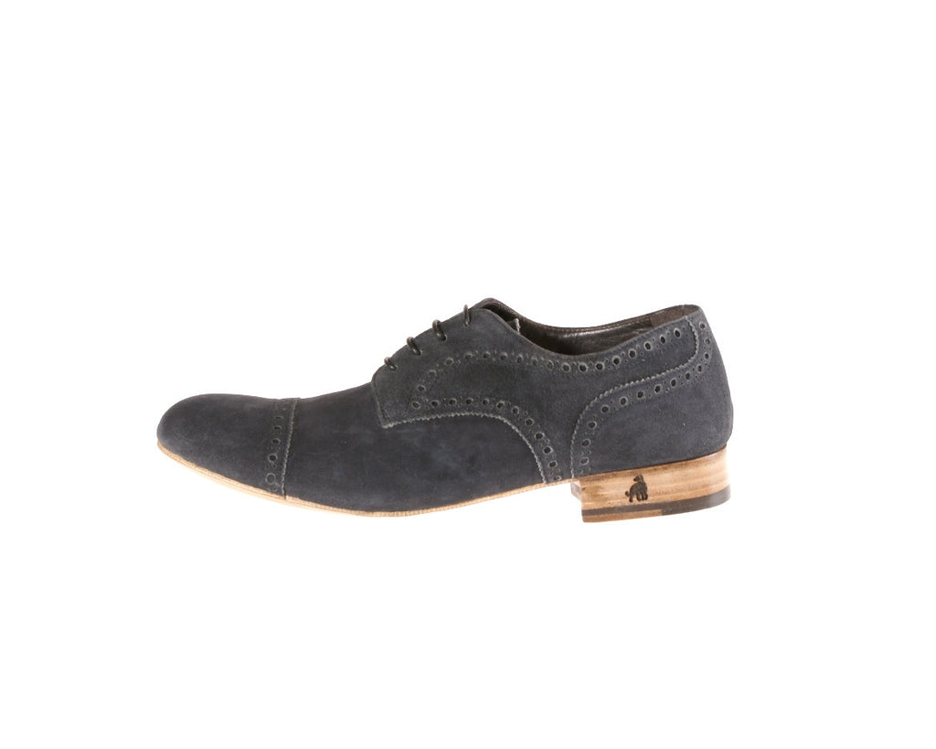 Mimosa Black Suede Flat