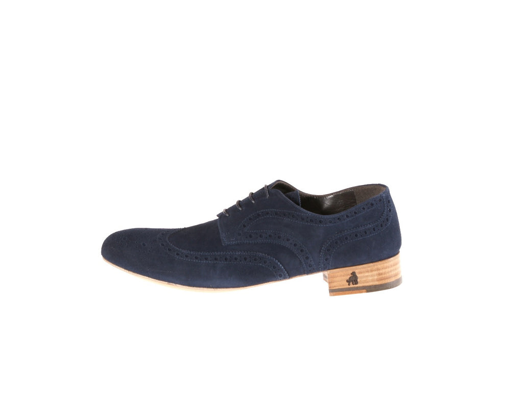 Mimosa Blue Suede Flat