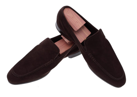 Trento Brown Suede Loafers
