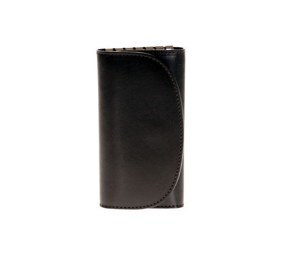 Luxury Leather Key Holder in Dark Brown Calf