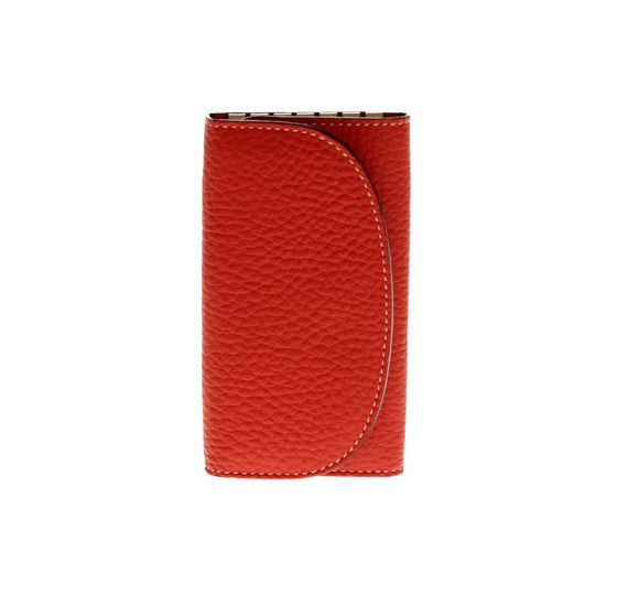 Luxury Key Holder in Red Calf Leather