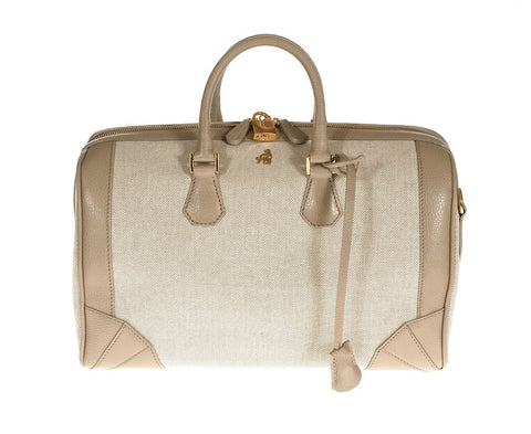 Brenna Grey Canvas Satchel