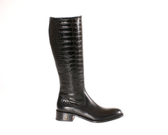 London Best Custom Black Riding Boots ~ size 5 boots ~ bespoke boots ~ soft ride boots ~ London ~ soft boots ~ calf boots ~ alligator boots ~ alligator shoes ~
