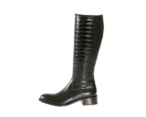Vittoria Black Calf Riding Boot
