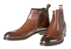 Where to Buy Italian Booties For Man in London NYC Men's Leather Ankle Boots Brown