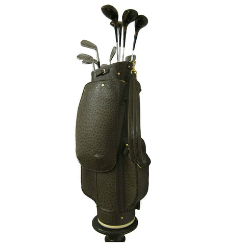 Golf Bag Brown Ostrich