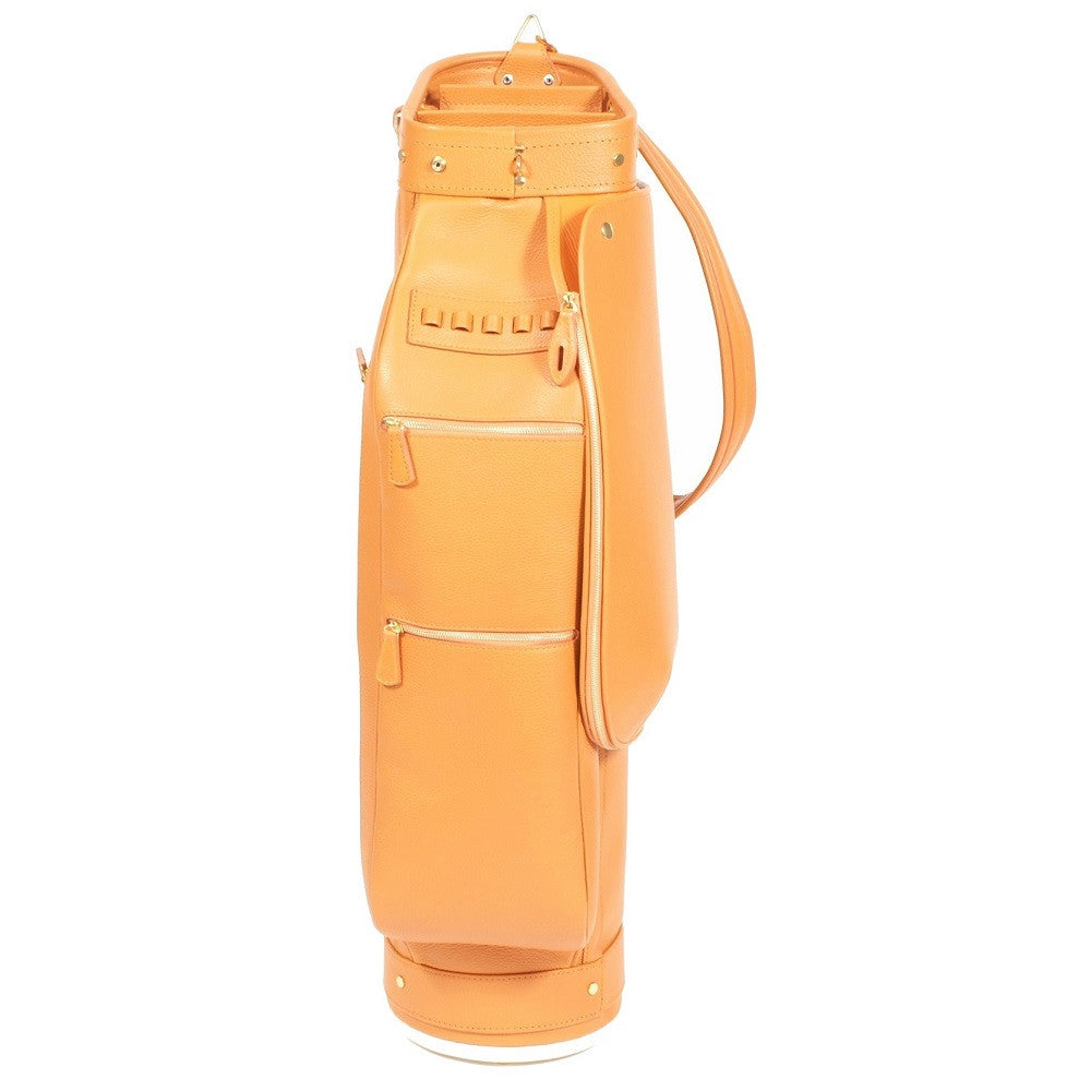 Golf Bag Orange Calfskin
