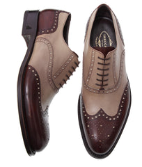 Custom Shoes For Property Brothers Drew Jonathan Scott Man Leather Bicolour Italian Shoes