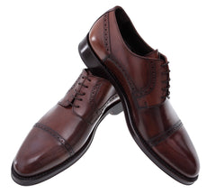 Finest Bespoke Men's Leather Shoes in Authentic Shell Cordovan by Horween