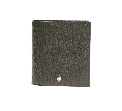 Men's Wallet Black Calfskin Dolphin