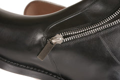 NY Finest Men's Black Leather Ankle Boots in Town NYC