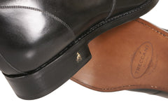Dapper Fashionista Cool Italian Men's Black Leather Ankle Boots To Order NYC Buy Online
