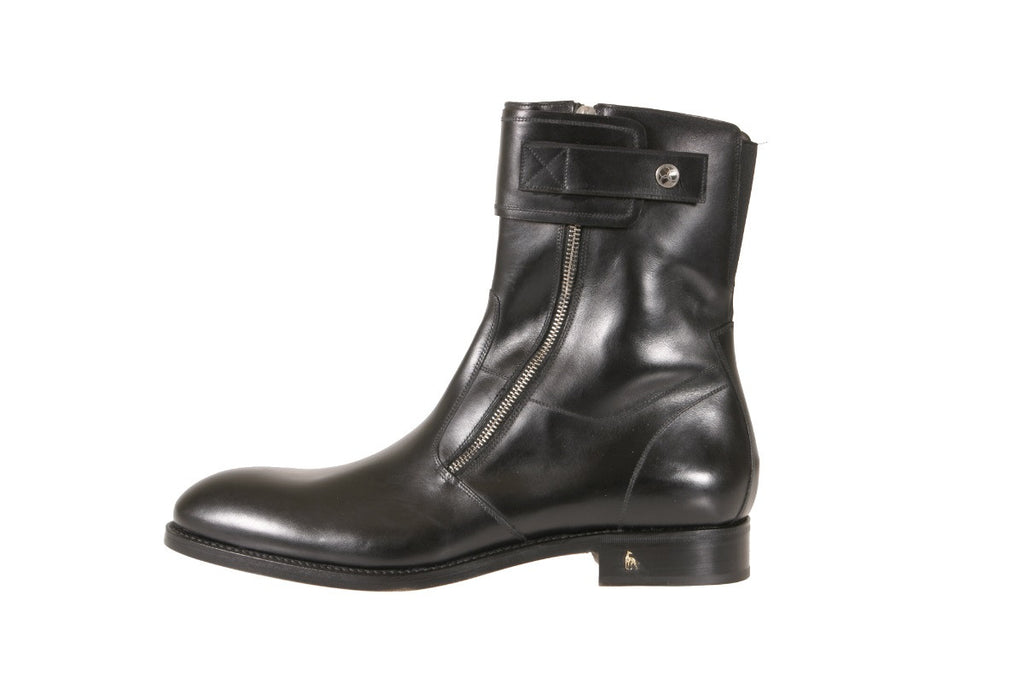 Men's Black Leather Ankle Boots NYC