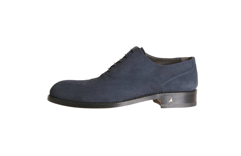 Men's Dress Brogue Shoes Indigo Blue