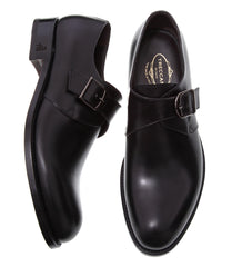 Shopping Online For Best Luxury Italian Monk Strap Shoes Online Handmade Black Leather