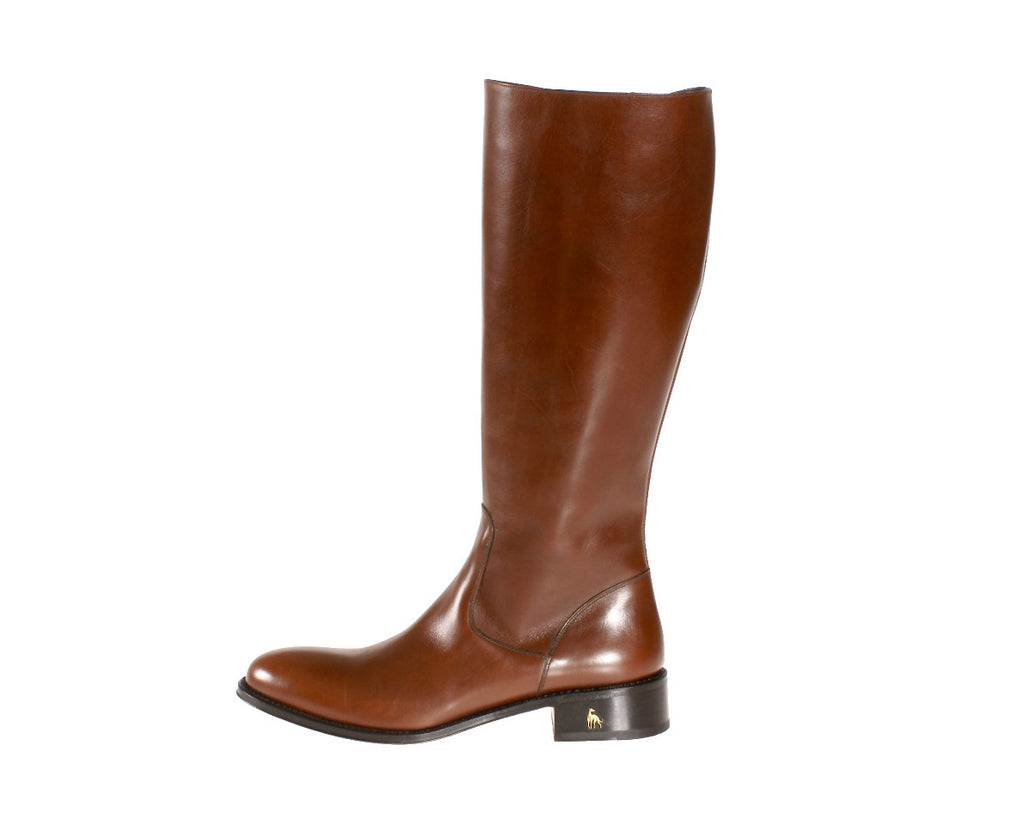 Buy in NYC Size 12 Brown Riding Boots Leather Handmade in Italy Shop Store Online Size 12