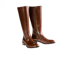 Where to Buy in NYC Brown Riding Boots Leather Handmade in Italy Online