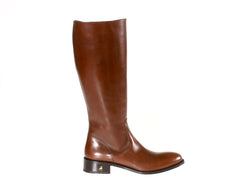 Size 5 NYC Brown Riding Boots Leather Handmade in Italy Buy Shop Online