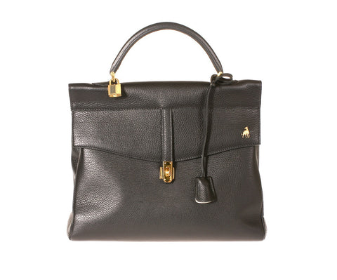 Firenze Black Calf Leather Bag