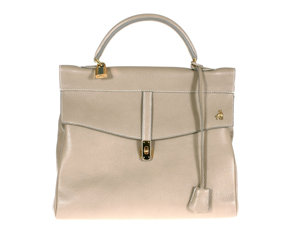 Firenze Grey Calf Leather Bag Last Call
