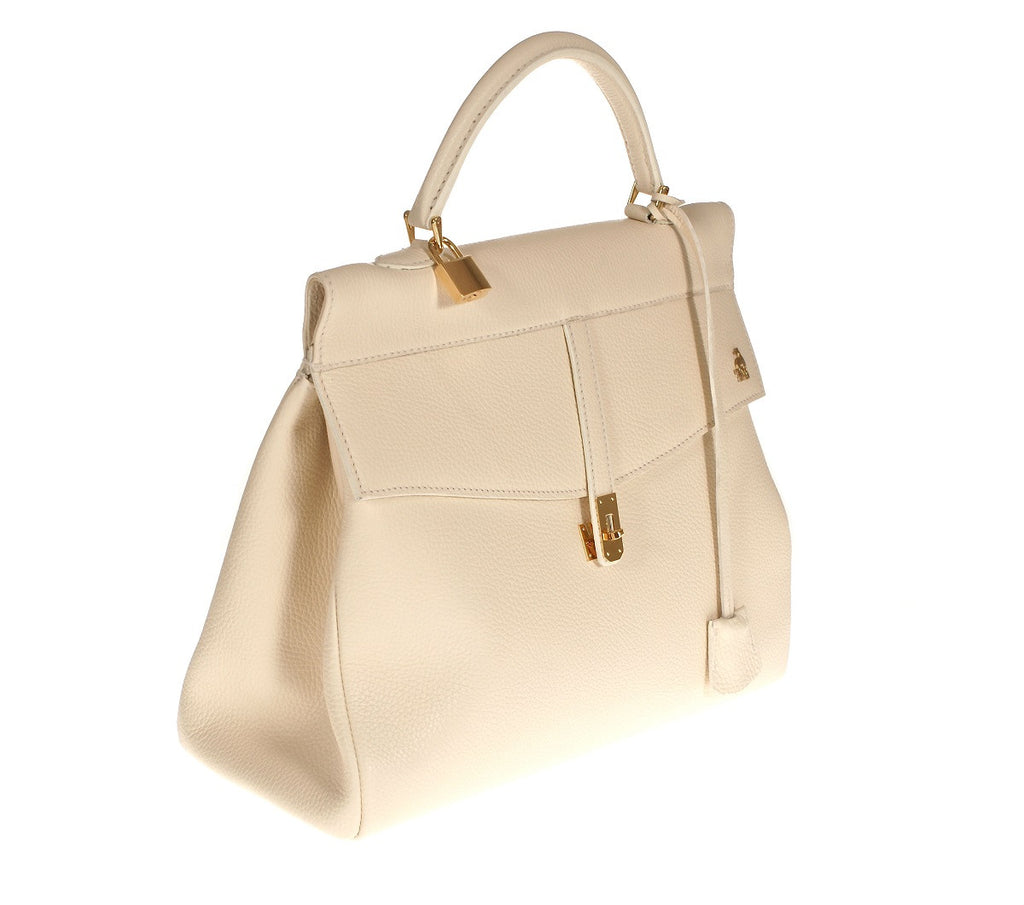 Firenze White Calf Leather Bag Last Call