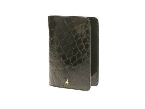 Passport Holder Black Alligator