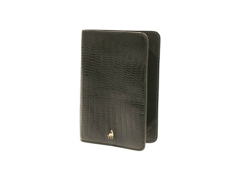 Passport Holder Black Reptile