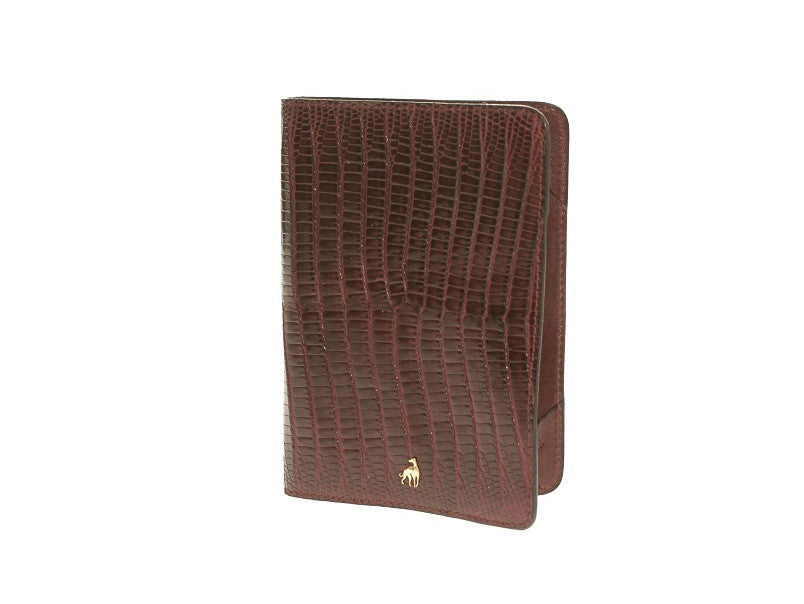 Passport Holder Bordeaux Reptile