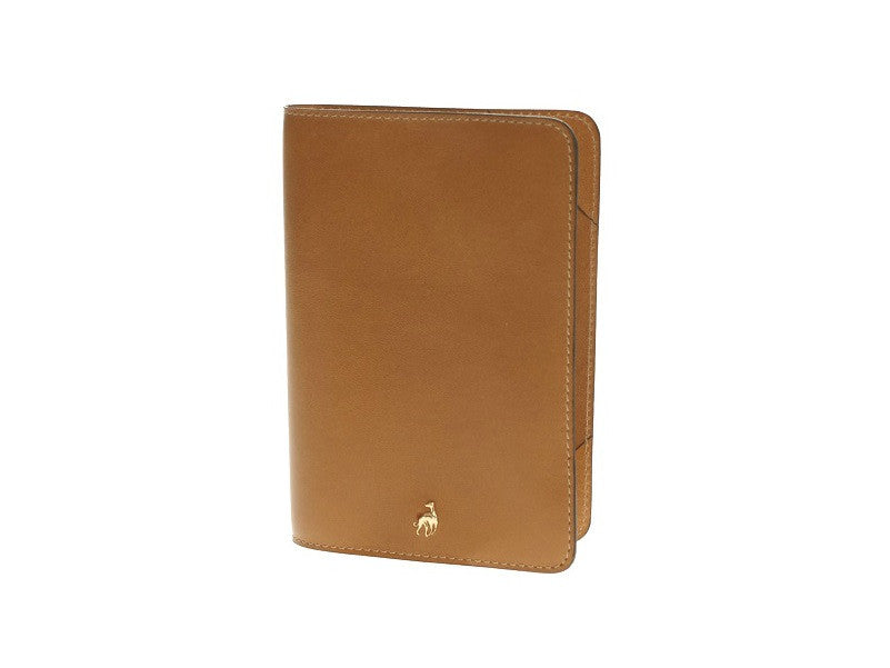 Passport Holder Caramel Calfskin