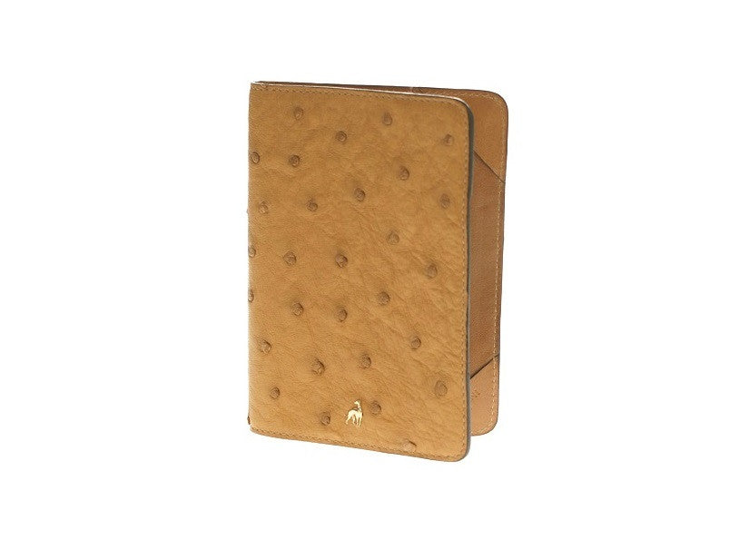 Passport Holder Chestnut Ostrich