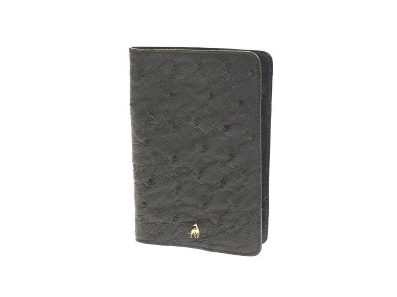Passport Holder Dark Blue Ostrich