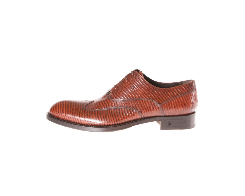 Buy Online Best Italian Shoes Handmade Red Reptile Tejus Italian Men's Shoes