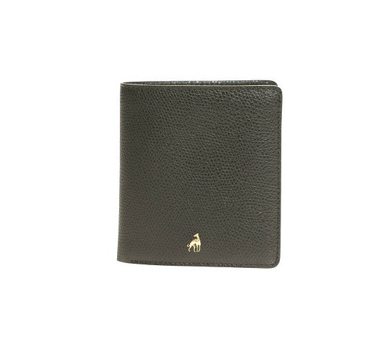 Small Wallet Black Calfskin Dolphin