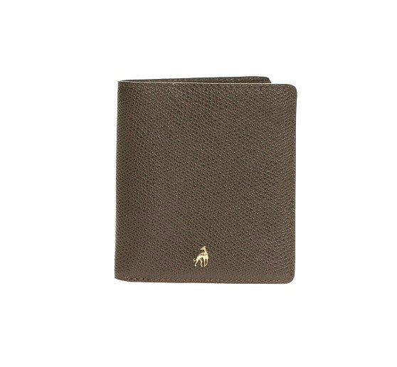 Small Wallet Brown Calfskin Dolphin
