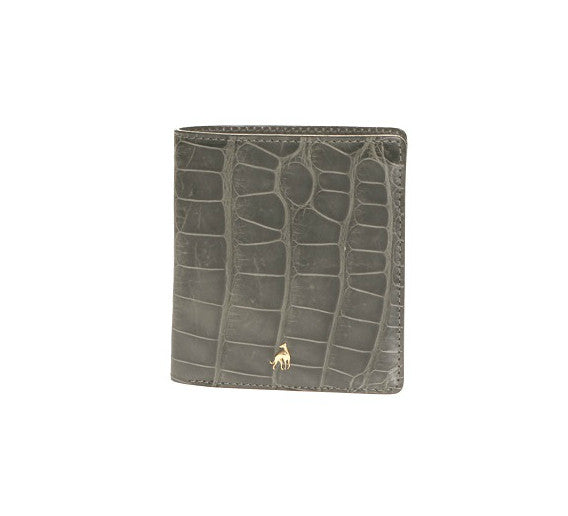 Small Wallet Grey Alligator Leather