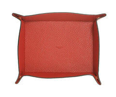 Valet Tray Red Calfskin