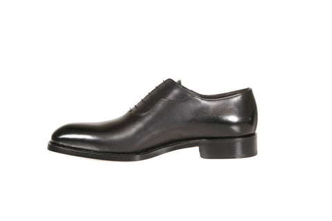 Lovanio Black Calfskin Oxford Shoes