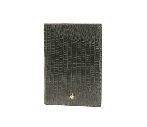 Wallet Dark Grey Reptile