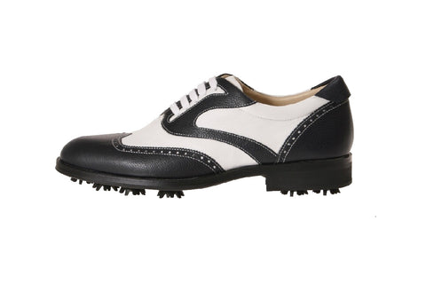 Parma White Blue Golf Shoes