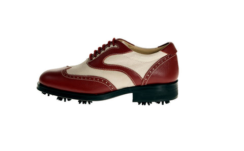 Parma White Red Golf Shoes