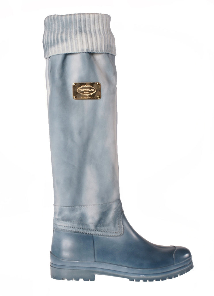 Woman Leather Rain Boots Jeans LAST CALL | US size 10