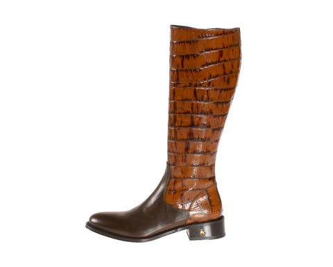Vittoria Brown Calf Riding Boot